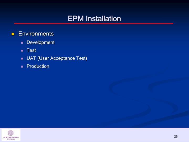 EPM Installation