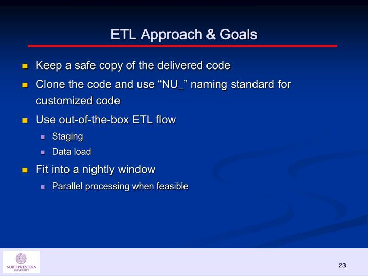 ETL Approach & Goals