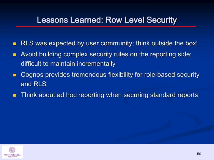 Lessons Learned: Row Level Security