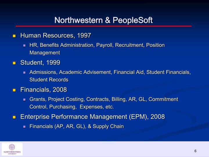 Northwestern & PeopleSoft