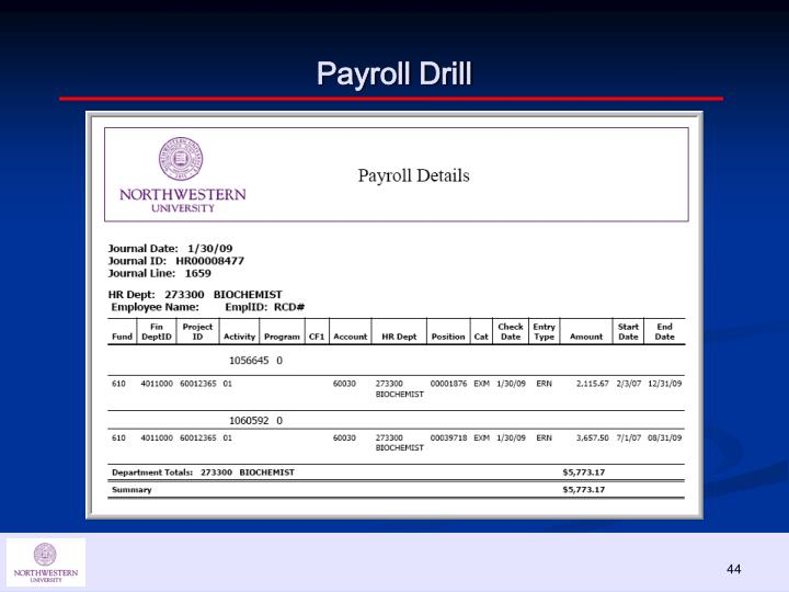 Payroll Drill