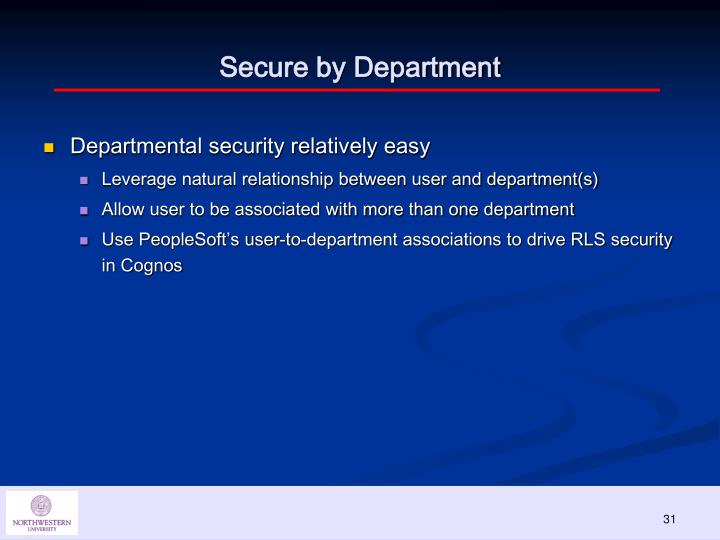Secure by Department