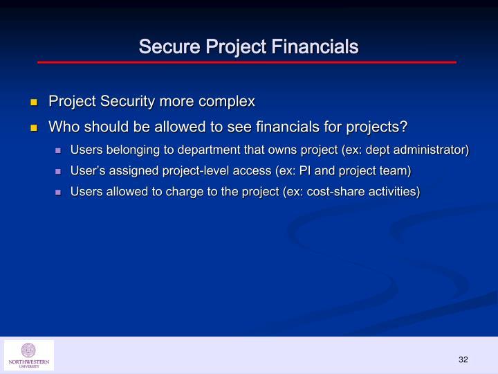 Secure Project Financials
