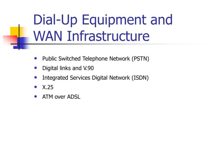 Dial-Up Equipment and WAN Infrastructure