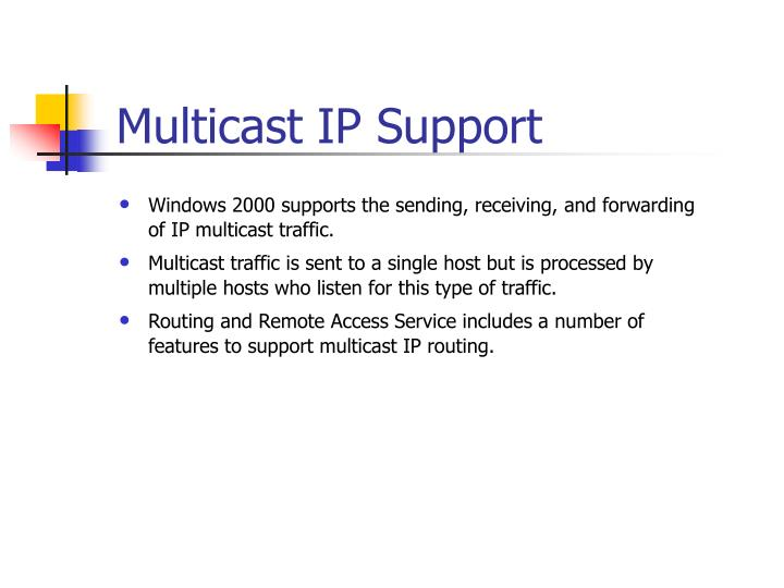 Multicast IP Support