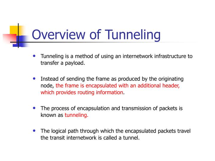 Overview of Tunneling