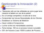 gestionando la innovaci n 2 prof ing luis f hevia r