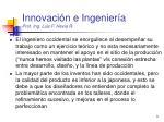 innovaci n e ingenier a prof ing luis f hevia r