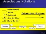 associations notations