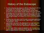 history of the endoscope