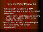 pulse oximetry monitoring