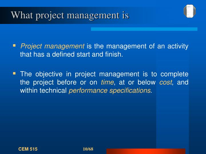 What project management is