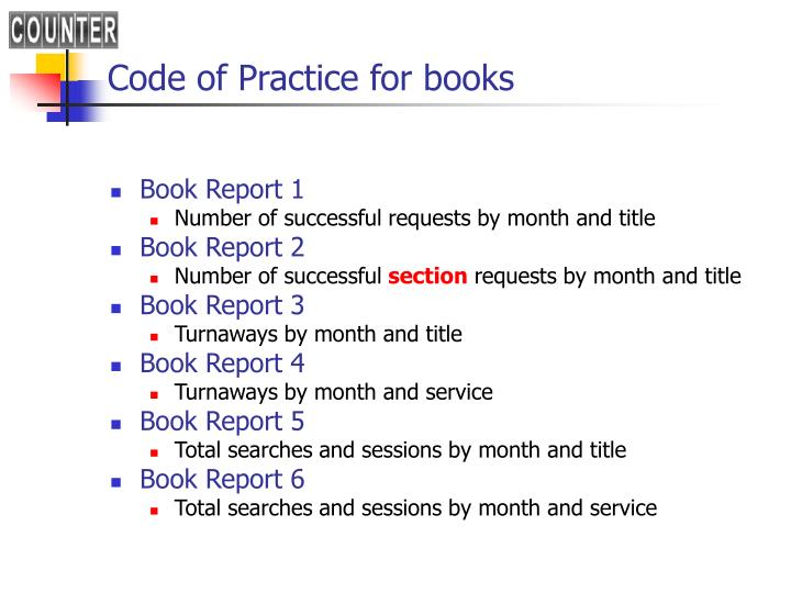 Code of Practice for books