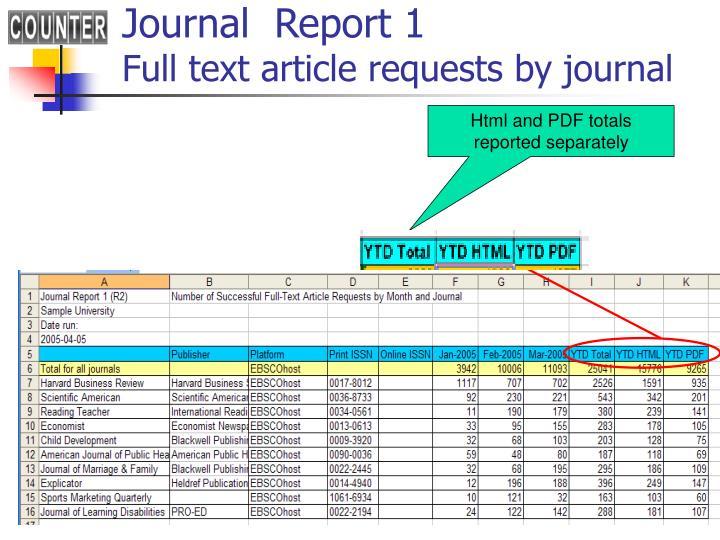 Journal  Report 1