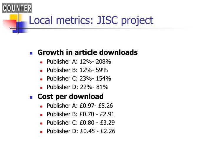 Local metrics: JISC project