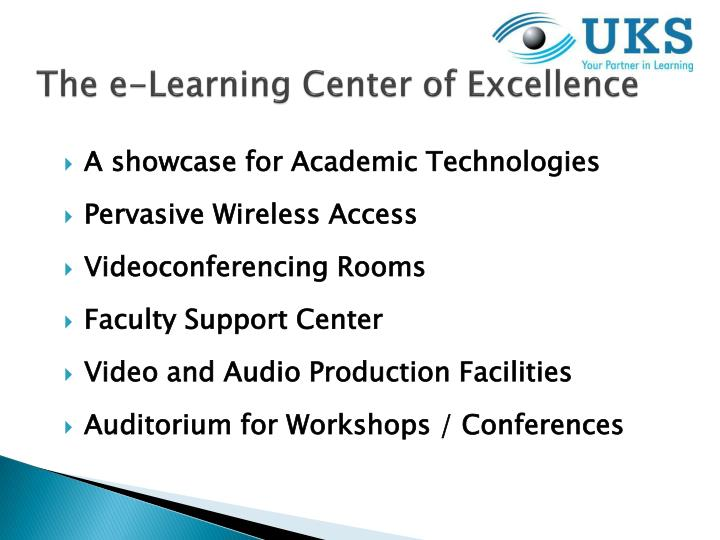 The e-Learning Center of Excellence
