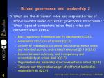school governance and leadership 2