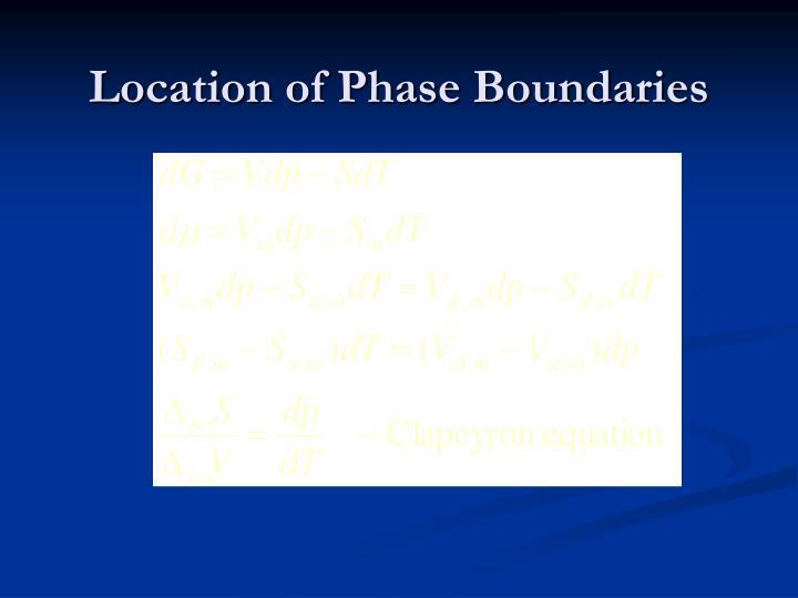 Location of Phase Boundaries