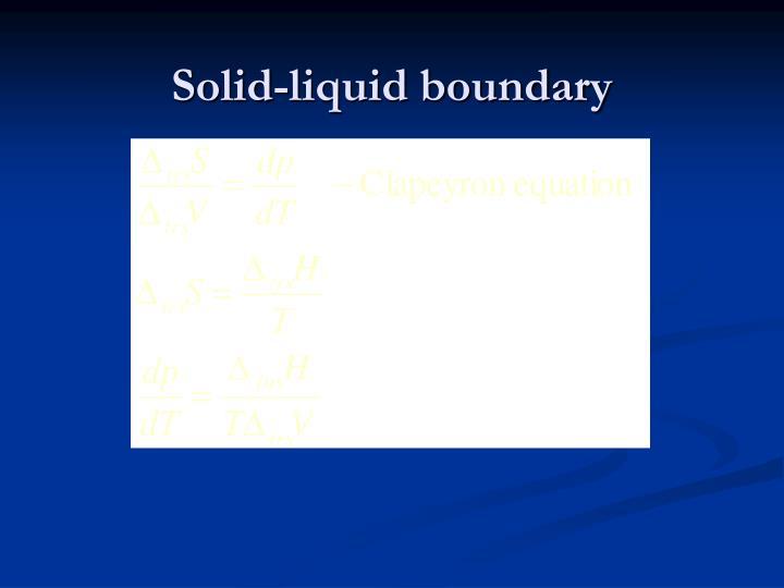 Solid-liquid boundary