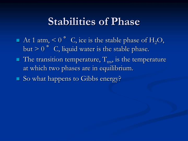 Stabilities of phase1