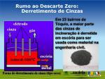 rumo ao descarte zero derretimento de cinzas