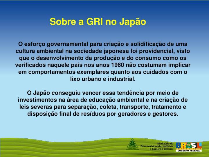 Sobre a GRI no Japão