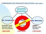 3 dimensions des pratiques educatives et des soins