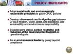 policy highlights