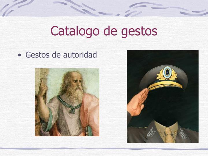 Catalogo de gestos