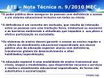 aee nota t cnica n 9 2010 mec