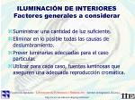 iluminaci n de interiores factores generales a considerar