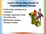 lewin s three step model of organizational change