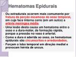 hematomas epidurais
