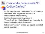 compendio de la novela el c digo davinci5