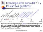 cronolog a del canon del nt y los escritos gn sticos