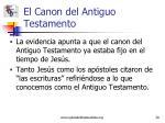 el canon del antiguo testamento1