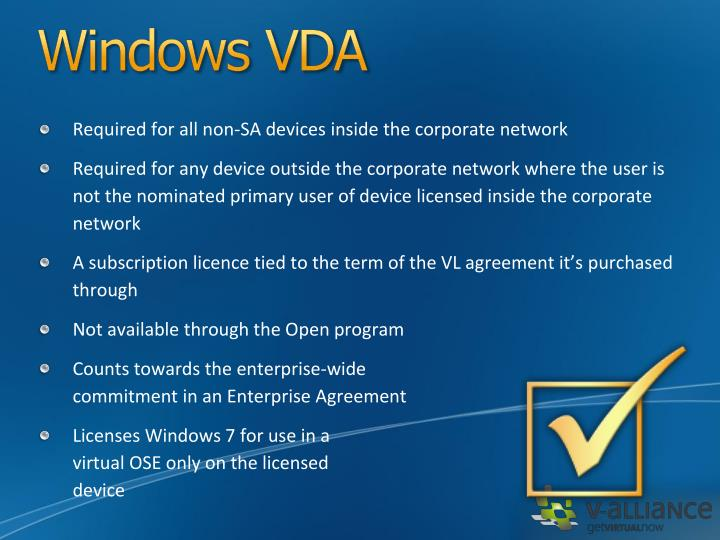 Windows VDA