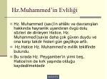 hz muhammed in evlili i1