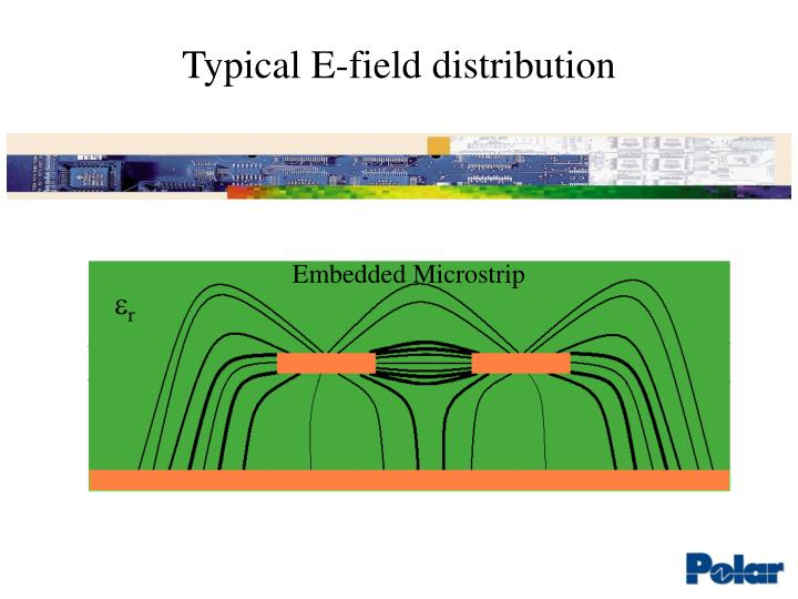 Typical e field distribution