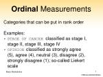 ordinal measurements