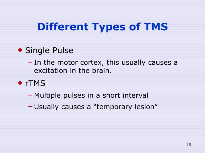Different Types of TMS