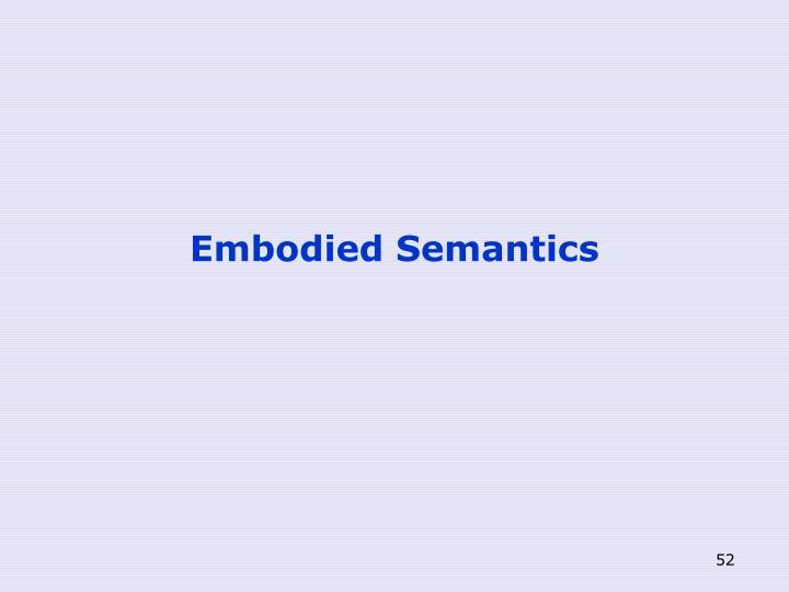 Embodied Semantics