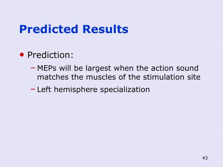 Predicted Results