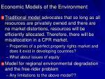 economic models of the environment