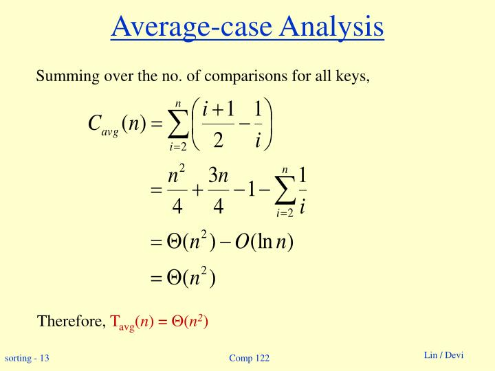 Average-case Analysis