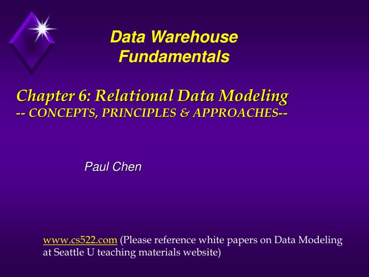 chapter 6 relational data modeling concepts principles approaches