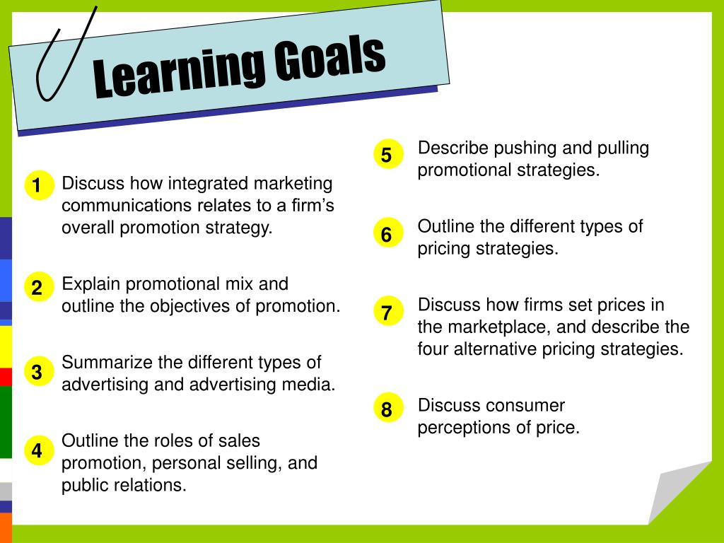 PPT - Promotion and Pricing Strategies PowerPoint