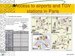 access to airports and tgv stations in paris