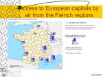 access to european capitals by air from the french regions