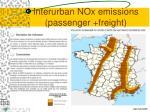 interurban nox emissions passenger freight